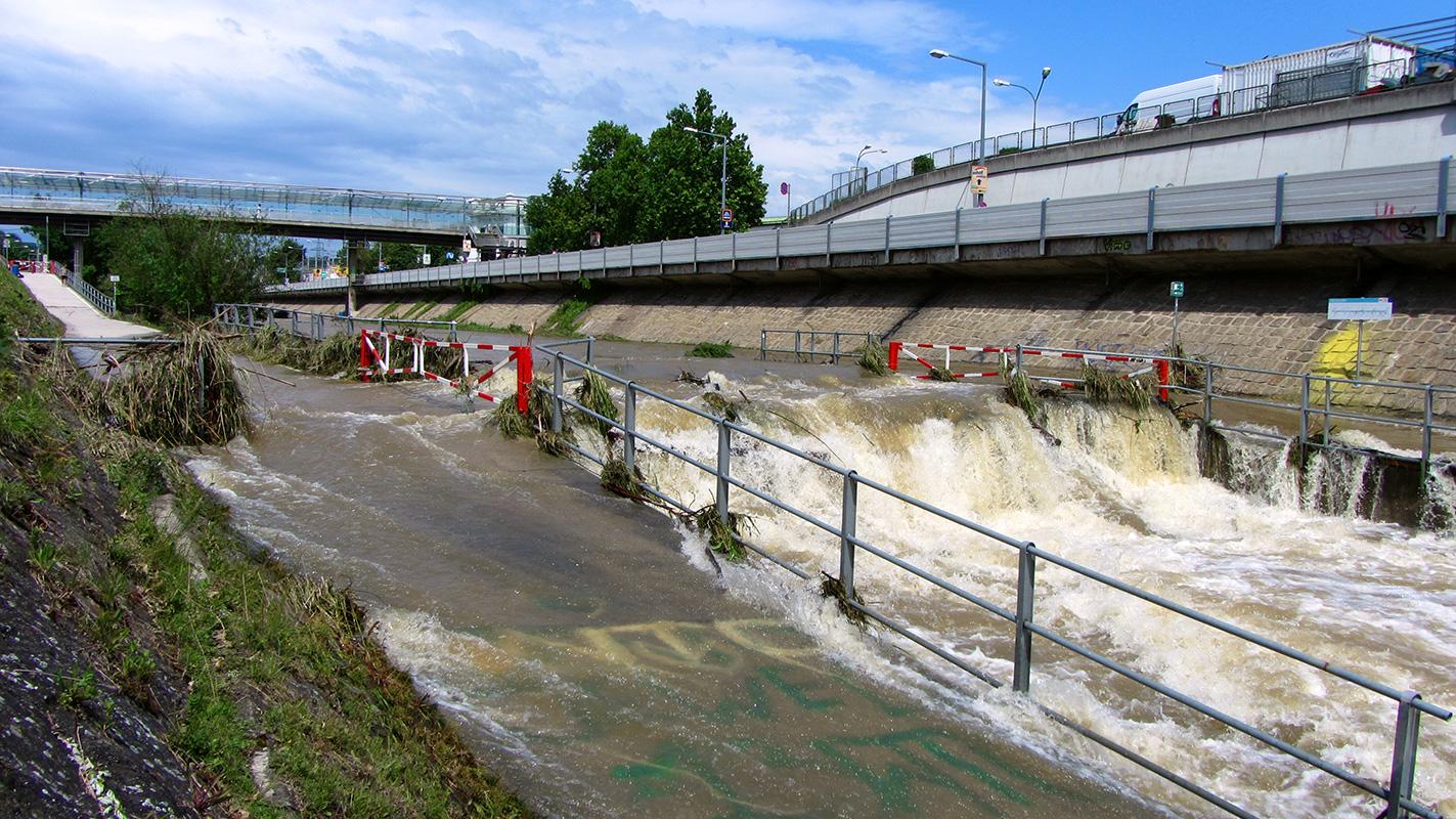Wienfluss Hochwasser